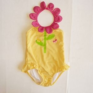Gymboree Spring Flower Swimsuit Size 18 to 24 Mon